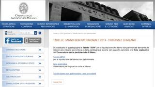 Tribunale di Milano e liquidazione danno biologico non patrimoniale 2014