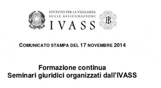 Roma: Formazione per avvocati con crediti formativi presso l'IVASS