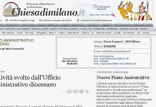 Nuovo Piano Assicurativo per l'arcidiocesi di Milano